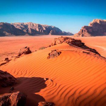 Jordanija. Wadi Rum dykuma.